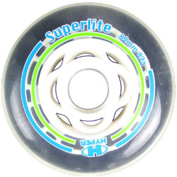 Hyper Superlight ILS Wheels Inline Ersatzrollen 80mm 82A Transparent
