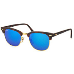 Ray Ban Clubmaster RB3016 114517 51 sand havana gold grey mirror blue
