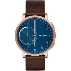 Herren Hybrid Smartwatch Skagen connected Rosé