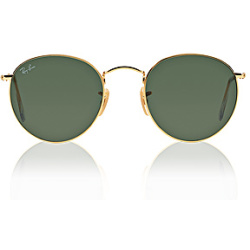 Ray Ban Round Metal 3447 001 5021 Arista Crystal Green