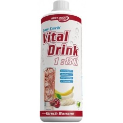 Best Body Nutrition Low Carb Vital Drink 1000ml Banane Kirsche