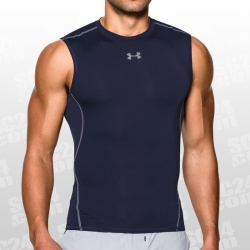 Under Armour Herren Kompressionsshirt UA HeatGear® Armour ärmellos Marineblau SM