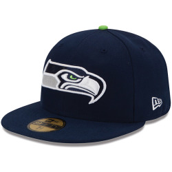 New Era NFL On Field 59Fiftys Cap SEATTLE SEAHAWKS Navy