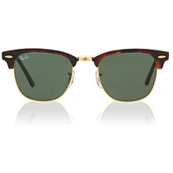 Ray Ban Clubmaster RB3016 W0366 49 mock tortoise arista crystal green