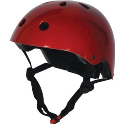 Kiddimoto Metallic Red Fahrradhelm Kinder