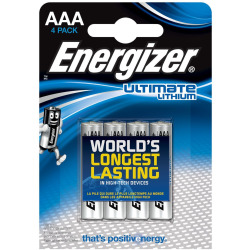 Energizer Batterie Ultimate Lithium Micro LR03 AAA 4 Stück