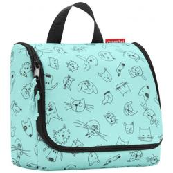 reisenthel Kulturbeutel Beauty Case kids toiletbag Cats and Dogs Mint (3 Liter)