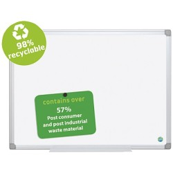 Bi Office Whiteboard Earth 120 x 90cm emailliert Aluminiumrahmen