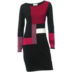 Strickkleid Color Blocking