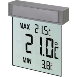 "TFA Dostmann Fensterthermometer ""Vision"" transparent 10 5 cm"