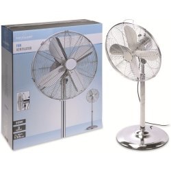 Standventilator 40 cm 50 W chrome 3 Stufen