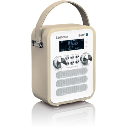 Lenco PDR 050 portable DAB radio with Bluetooth taupe