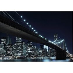 Home affaire Fototapete »New York by night« (8 St) 272 198 cm