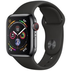 Apple Watch Series 4 (GPS Cellular) 40mm Space Black Stainless Steel with Black Sport Band