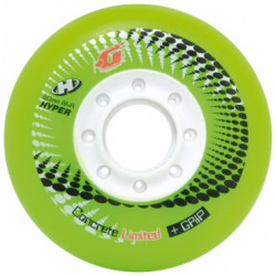 HYPER Inline Rolle Concrete G Limited Edition 4er Set 84A 80 mm Maximaler Speed Hohe Qualität Indoor Inline Rolle Inline Hockey greenwhite